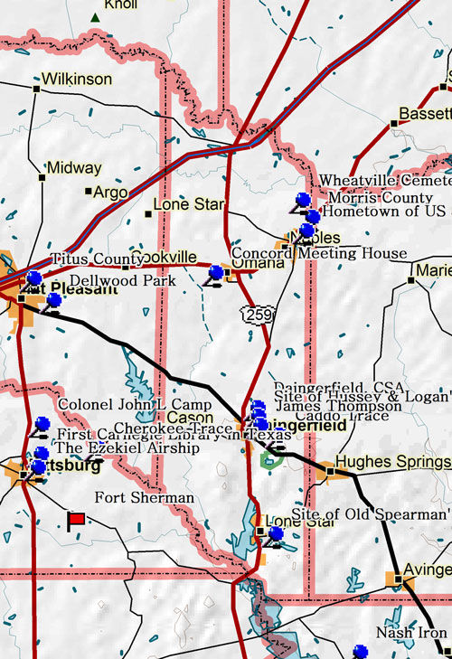 Map of Morris County Historic Sites
