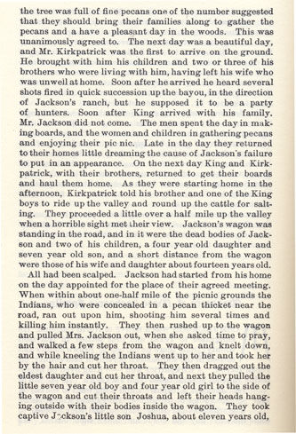 Massacre of Mose Jackson's Family story from the book Indian Depredations in Texas by J. W. Wilbarger