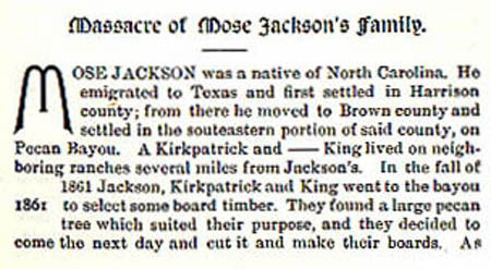 Mose Jackson story by Wilbarger