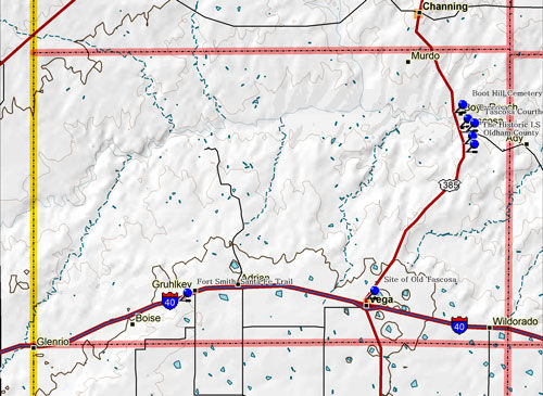 Map of Oldham County