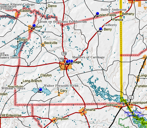 Map of Panola County