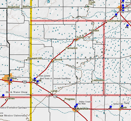 Map of Parmer County
