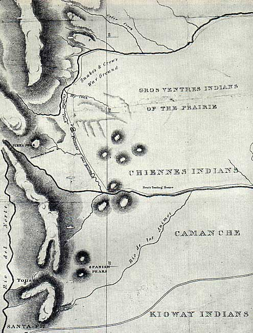 1840 Plains Tribes Map