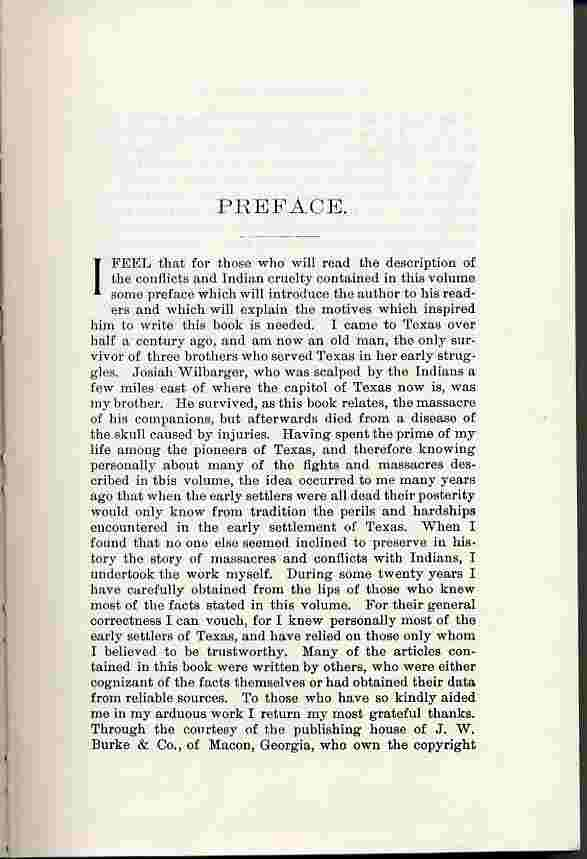 Indian Depredations in Texas Preface