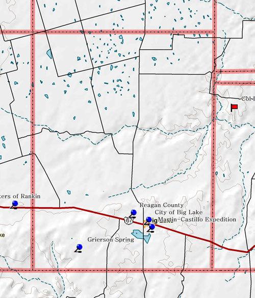 Map of Reagan County