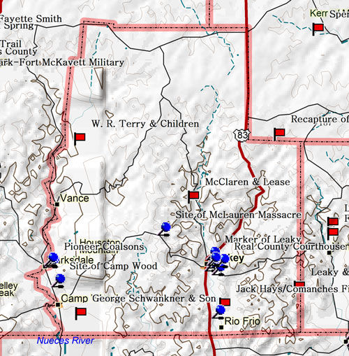 Map of Real County