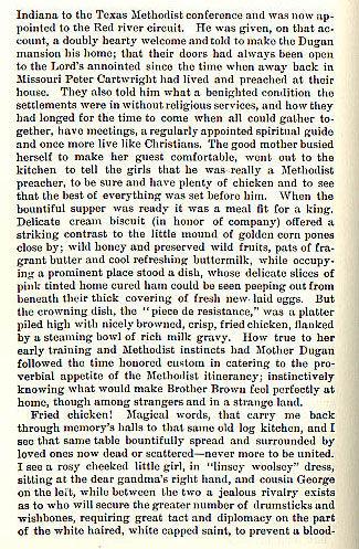 Rev. Mr. Brown, a Methodist Preacher who Don't Eat Chicken