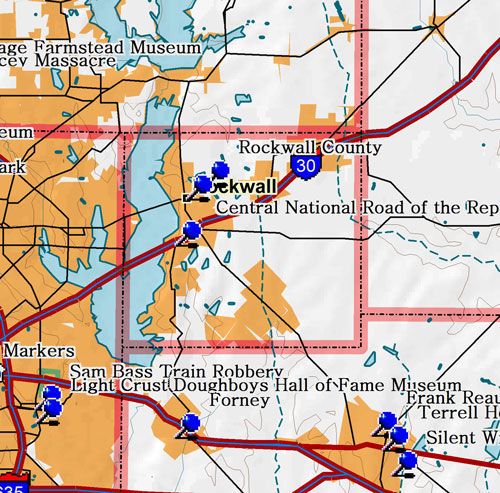 Map of Rockwall County