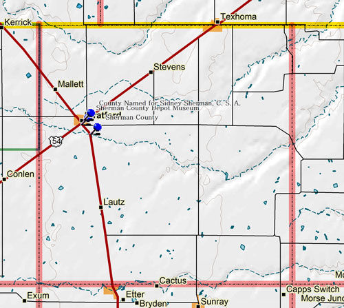 Map of Sherman County ounty
