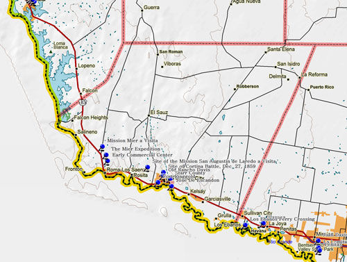 Map of Starr County