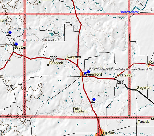 Map of Stonewall County