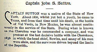 Captain John S. Sutton story from the book Indian Depredations in Texas by J. W. Wilbarger