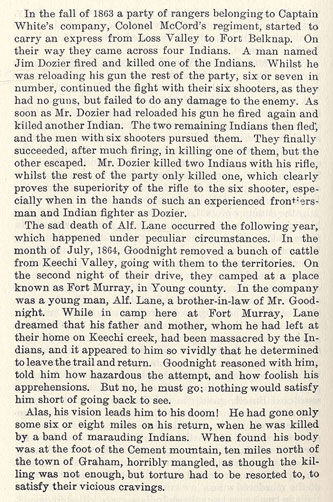 The Tacket Fight - Young County story from the book Indian Depredations in Texas by J. W. Wilbarger