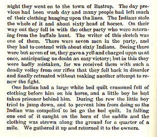 Taylor Smith story from the book Indian Depredations in Texas by J. W. Wilbarger