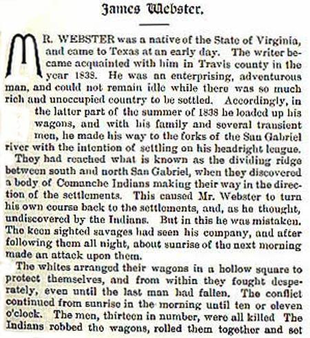 James Webster story by Wilbarger
