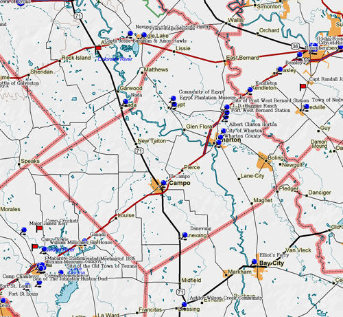 Map of Wharton County