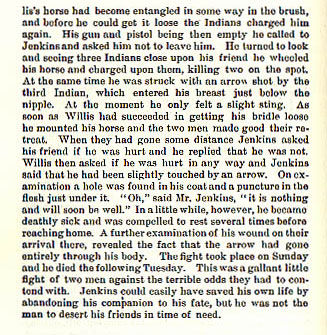 Willliam Jenkins story from the book Indian Depredations in Texas by J. W. Wilbarger