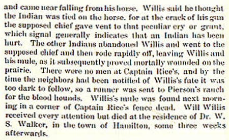 William Willis story by Wilbarger