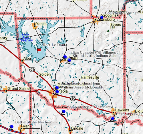 Map of Wood County