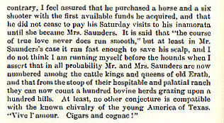Young Saunders story from the book Indian Depredations in Texas by J. W. Wilbarger