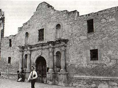 Picture of the Alamo by Charles M. Robinson, III from the book, Frontier Forts of Texas