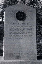 Indian Battlefield Centennial Marker