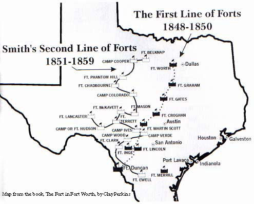 First and Second Line of Forts Map