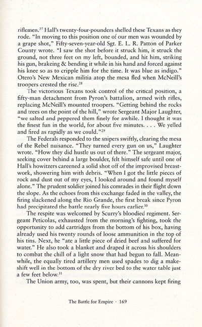 The Battle of Val Verde from the book, Blood & Treasure by Donald S. Frazier