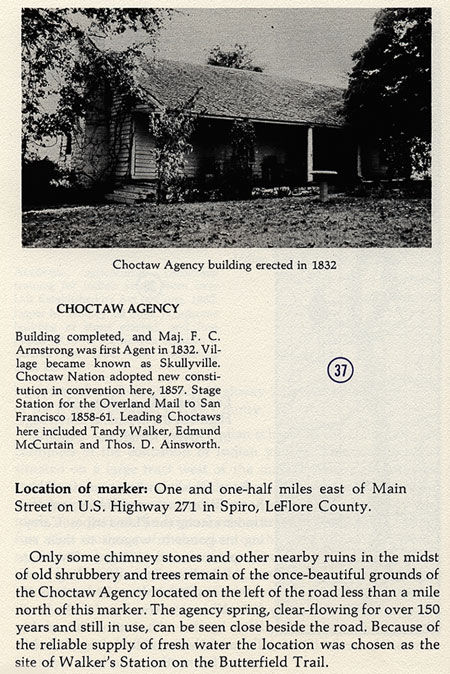 Choctaw Agency Building Picture