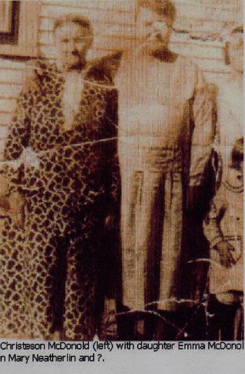 Picture of Christeson McDonold and daughter Emma with Mary Neatherlin