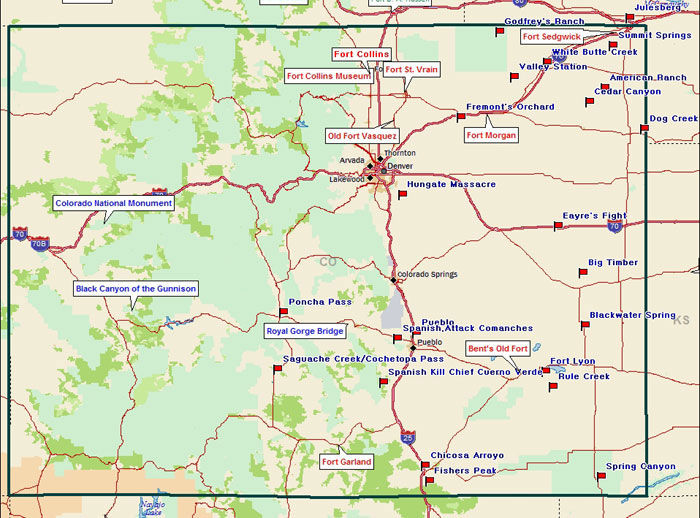 Colorado Points of Interest Map