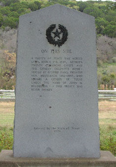 Picture of Comanche Indian Treaty Historical Marker