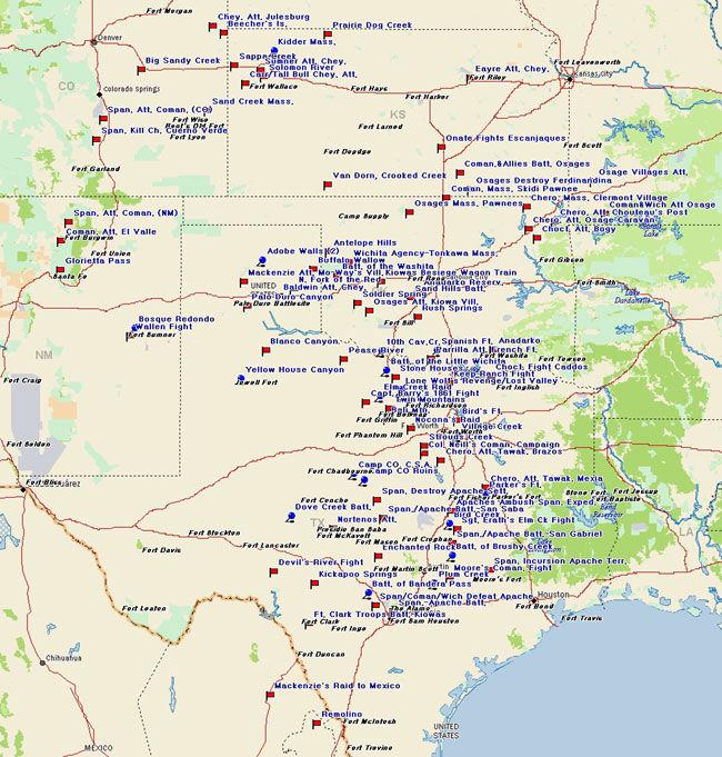 Southern Plains Comancheria Map
