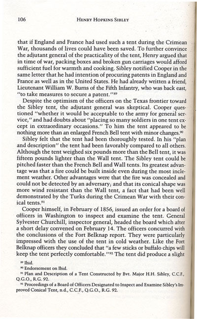Sibley from the book, Confederate General of the West by Jerry Thompson