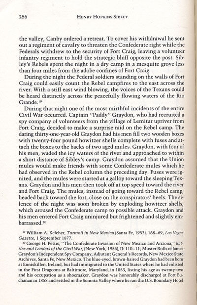 Battle of Val Verde from the book, Confederate General, by Jerry Thompson
