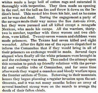Council House Fight in San Antonio story from the book Indian Depredations in Texas by J. W. Wilbarger