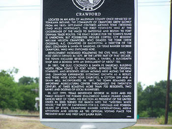 Picture of Historical Marker in Crawford, TX