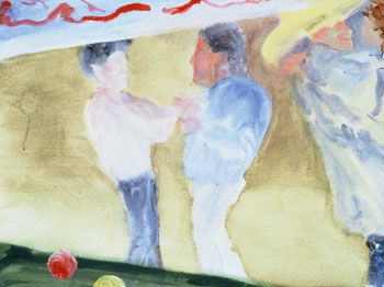 """""""Dancing Brunette"""" painted by Rick Steed"""