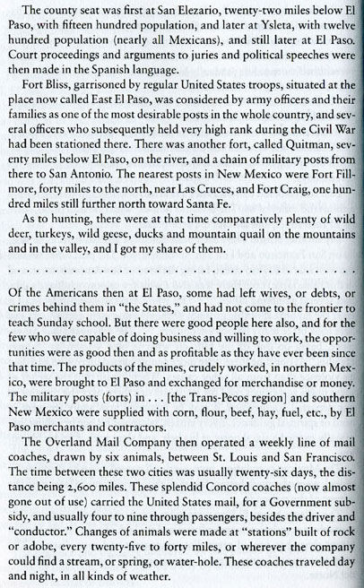 W.W. Mills First-Hand Account of 1858 El Paso