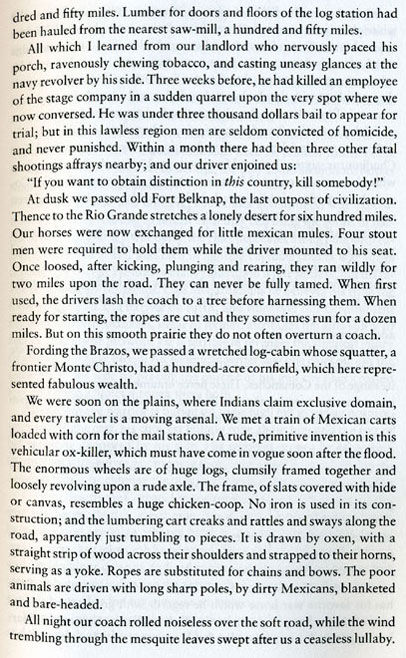 Albert D. Richardson's first-hand account of his 1859 Butterfield Stage Ride into Texas