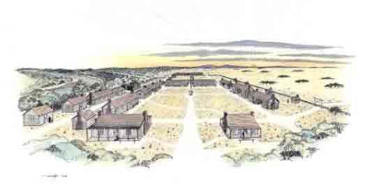 Picture of Fort Worth in the early 1850s