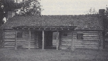 Picture of Stephen F. Austin's dogtrot style cabin