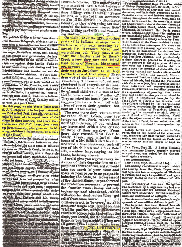Newspaper Article about Enoch Jones