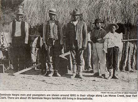 Seminole Men and Youngsters Picture