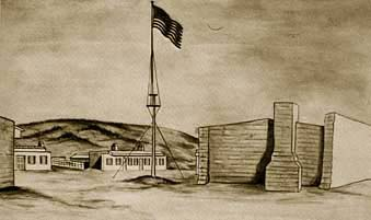 Drawing of Fort Garland