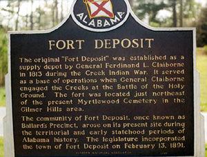 Picture of Fort Deposit Historical Marker