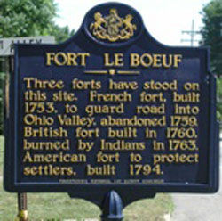 Picture of Fort Le Boeuf Historical Marker