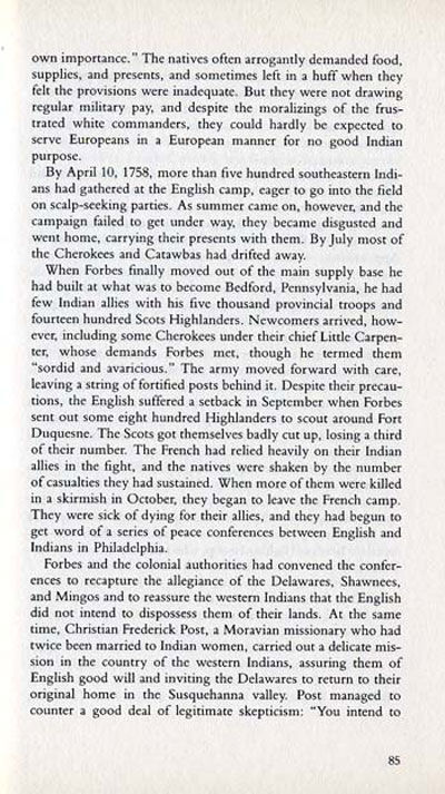French Indian Wars Story