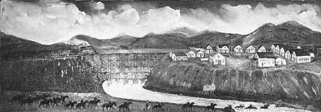 Drawing of Fort Steele