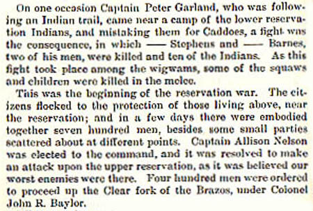 Capt Garland story by Wilbarger